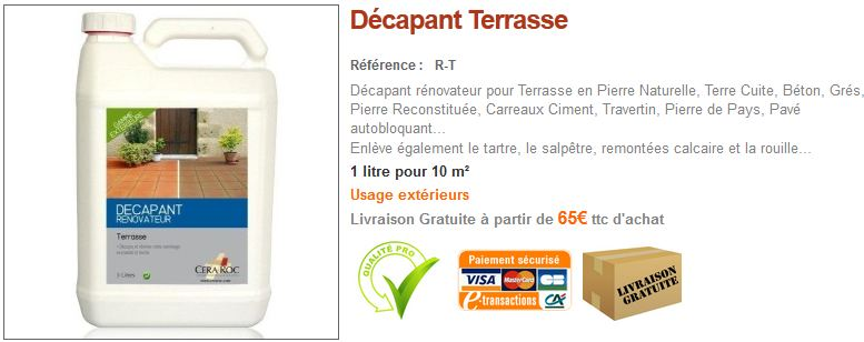 Décapant Terrasse Pierre