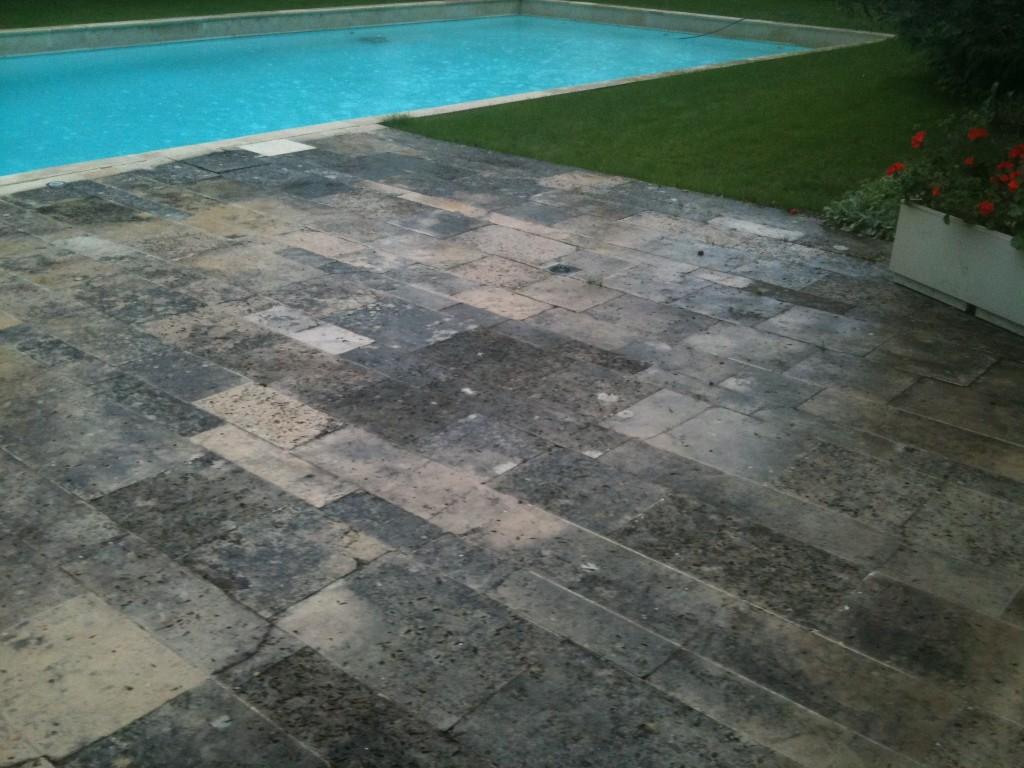 nettoyer terrasse pierre