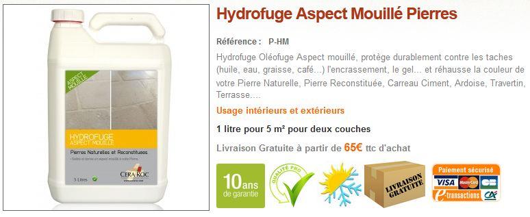 Hydrofuge Aspect Mouillé Pierres