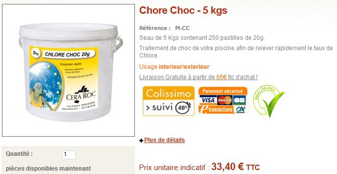 chlore choc piscine conseils et vente en ligne blog conseils cera roc. Black Bedroom Furniture Sets. Home Design Ideas