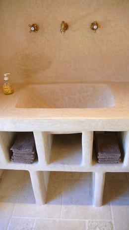 Entretien travertin salle de bain vente et conseils d - Hydrofuge pour travertin ...