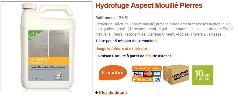 Hydrofuge aspect mouillé pierre de bourgogne