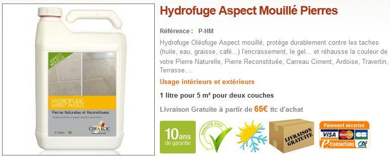 Imperméabilisant Effet Mouillé Pierre