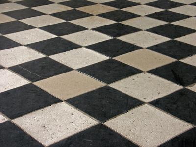 Cire terre cuite et tomette je veux un effet patin brillant sur ma terre cuite comment dois - Carrelage ancien noir et blanc ...